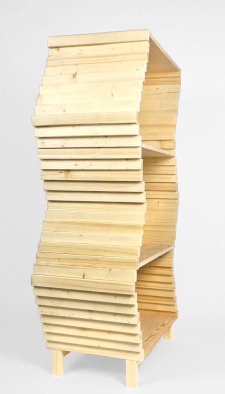 Wooden Wave Bookshelf