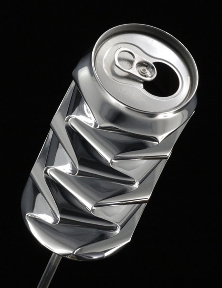 Dented Soda Cans Art