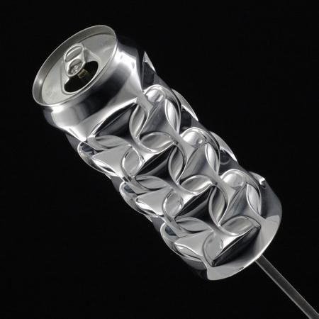 Dented Aluminum Can Art