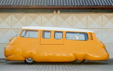 Yellow Hot Dog Bus