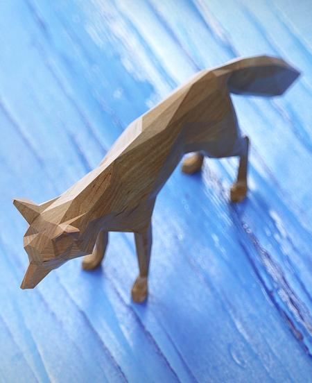 Lowpoly Wooden Animals