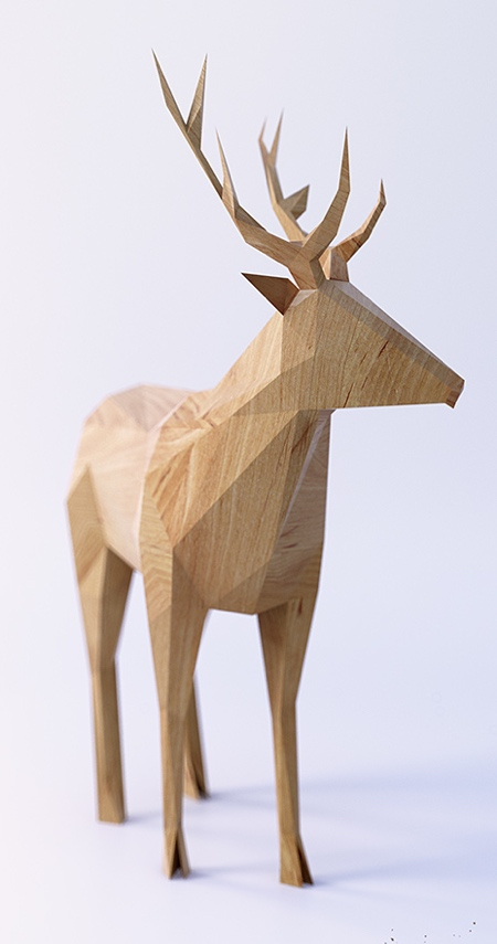 Low Poly Wooden Animals