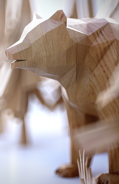 Polygon Wooden Animals