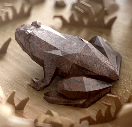 Low Polygon Wooden Animals