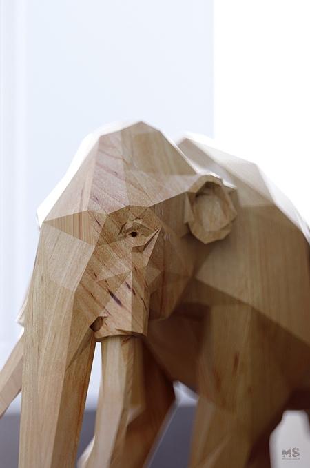 Rendered Wooden Animals