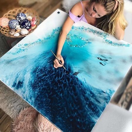 Marie Antuanelle Ocean Paintings