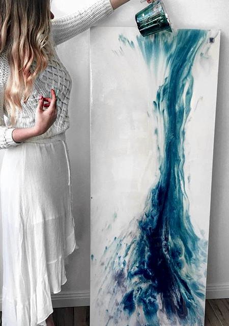 Marie Antuanelle Ocean Painting