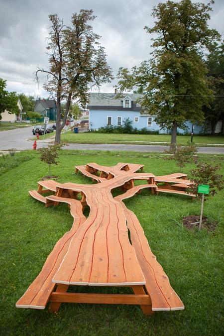 Tree Picnic Table