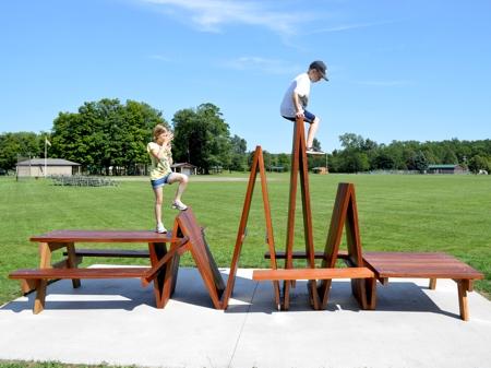 Picnic Table Sculpture