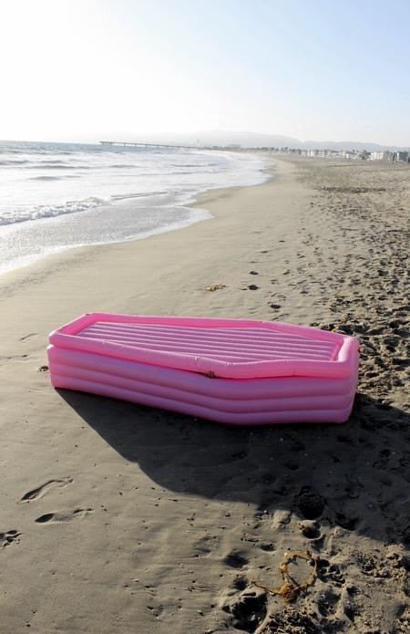 Pom Pom Pink Coffin