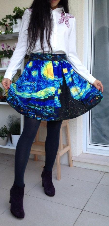 Van Gogh Skirt