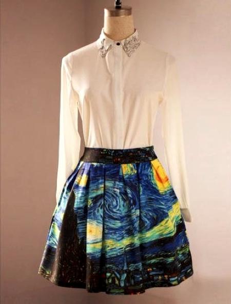 Van Gogh Starry Night Skirt
