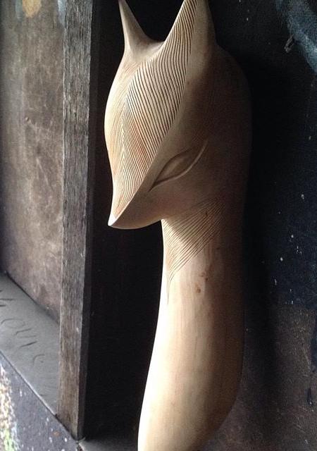 Wooden Sculpture by Tach Pollard