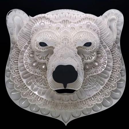 Paper Animal Heads