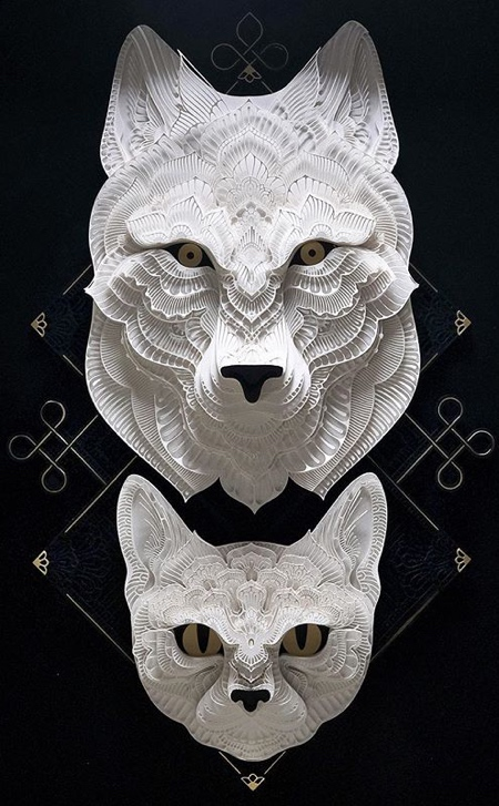 Papercut Animal Heads