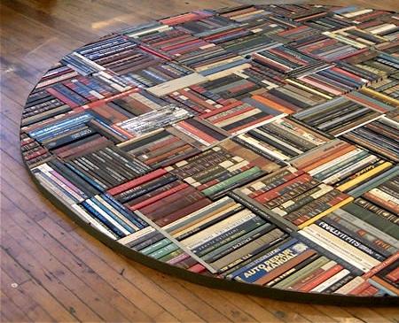 Pamela Paulsrud Rug Made of Books