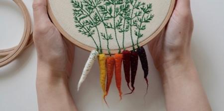 Embroidered Vegetables