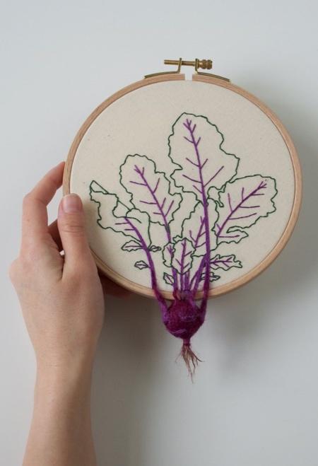 Veselka Bulkan Embroidered Vegetables