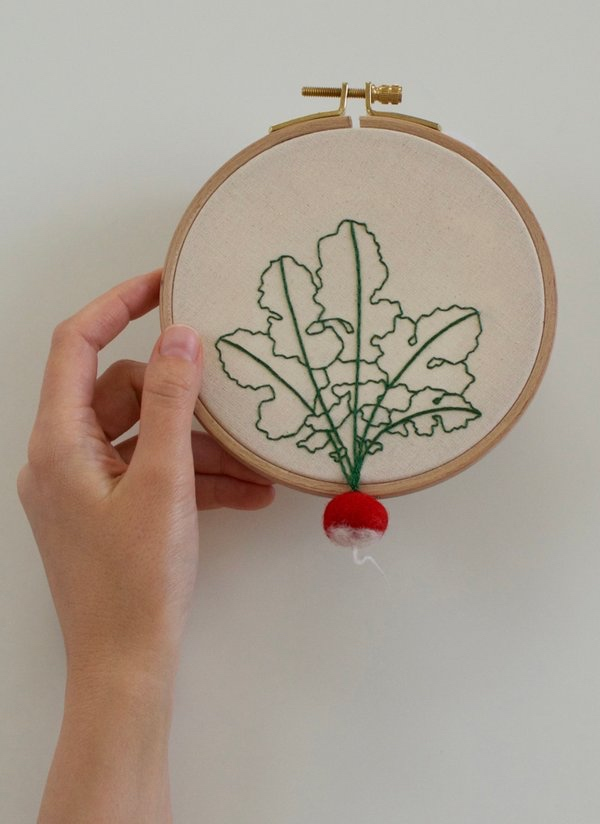 Veselka Bulkan Embroidered 3D Vegetables