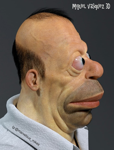 realistic homer simpson