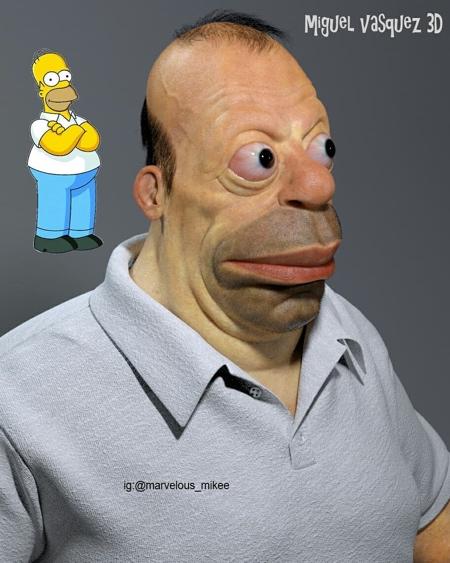 Miguel Vasquez Homer Simpson