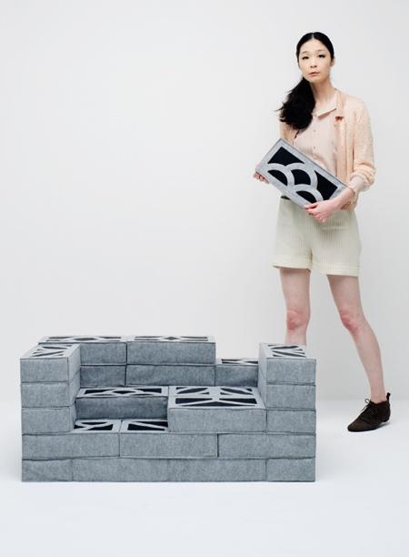 Soft Concrete Bricks