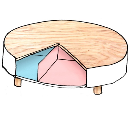 Rotating Storage Coffee Table