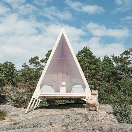 Triangle Cabin in Finland