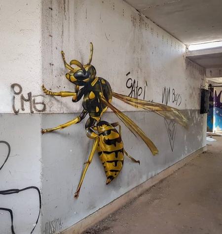 3D Bug Street Art