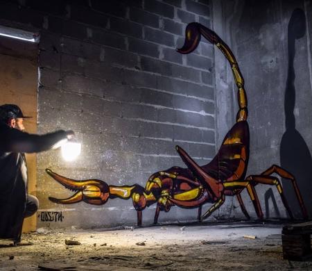 Odeith 3D Bugs Street Art