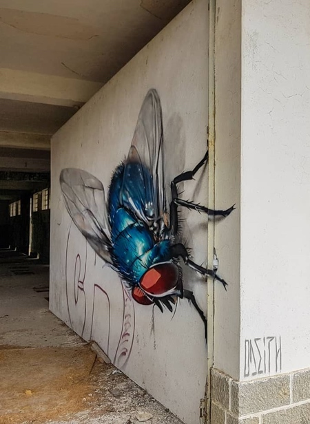 Odeith 3D Insects Street Art