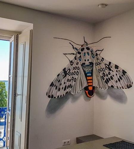 3D Butterfly Street Art