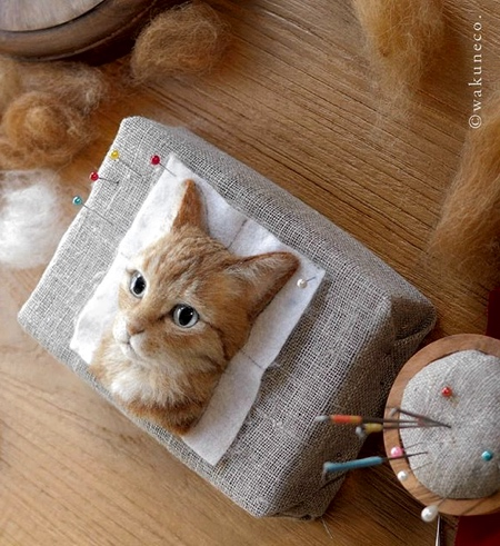 Wakuneco 3D Cat Portraits
