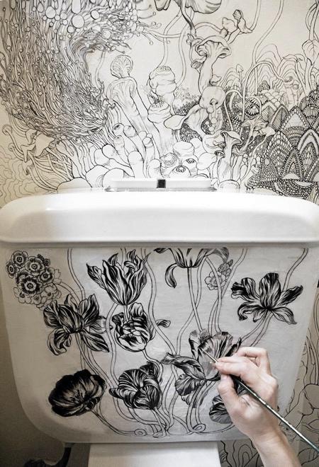 Roza Khamitova Bathroom Art