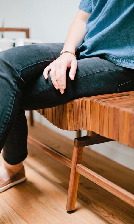 Sitskie Adjustable Wooden Bench