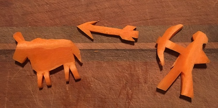 Carrot Carvings