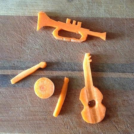 Carrot Sculpture
