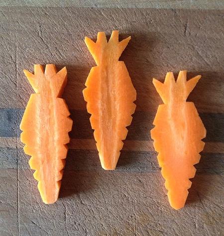 Halloween Carrot Carvings