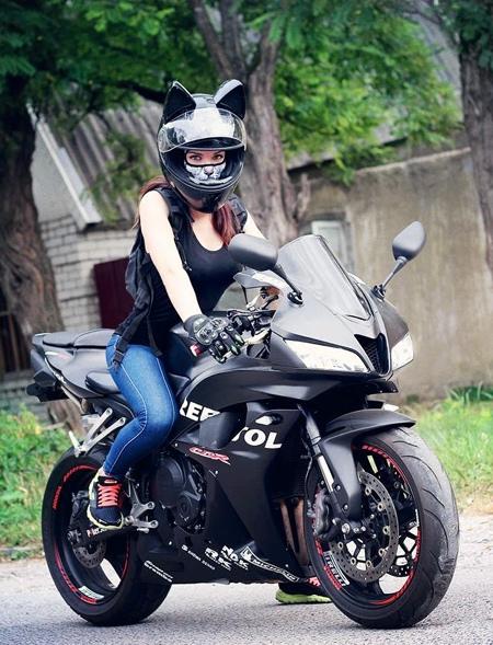 Cat Ears Motorcycle Helmet