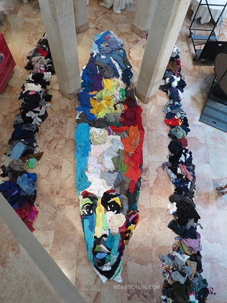 Portrait Made of Clothes
