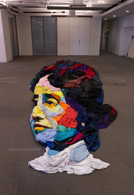 Portrait Made of Clothing