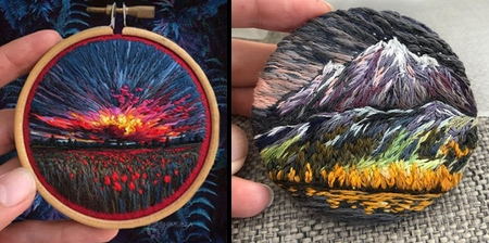 Embroidered Paintings