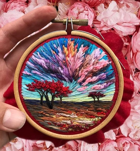 Embroidered Painting