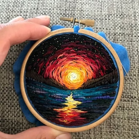 Vera Shimunia Embroidered Paintings