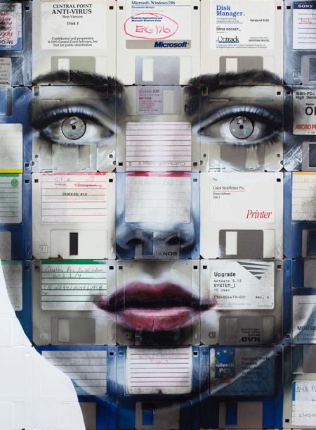 Floppy Disk Portraits