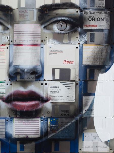 Nicholas Gentry Floppy Disk Art