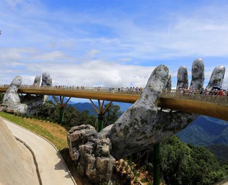 Cau Vang Bridge Vietnam