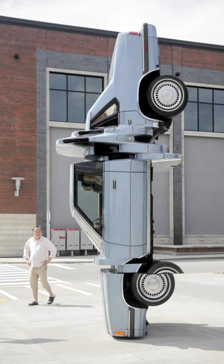 Glitched Car Sculpture