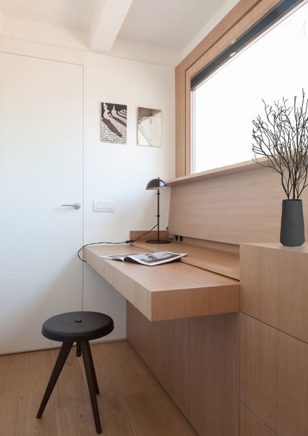 Hidden Wooden Desk