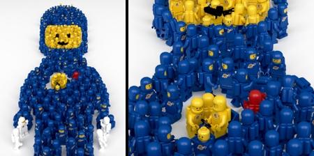 Giant LEGO Spaceman